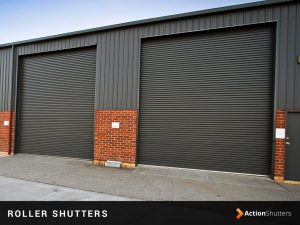 An industrial roller shutter door installation in Birmingham
