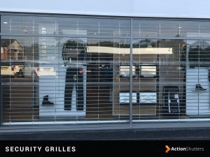 A security grille installation in Birmingham